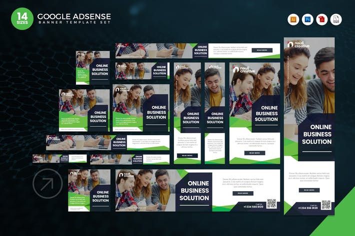 Thumbnail for 14 Online Business Solution Google Adsense Banner