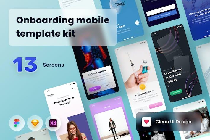 Thumbnail for Onboarding mobile template kit