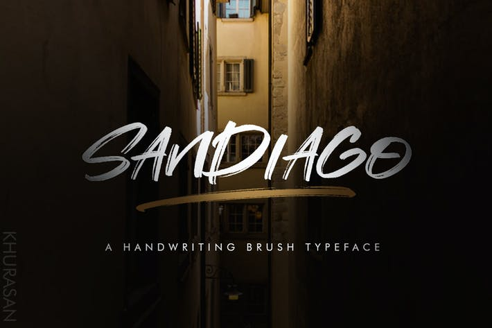 Thumbnail for Sandiago Brush Font