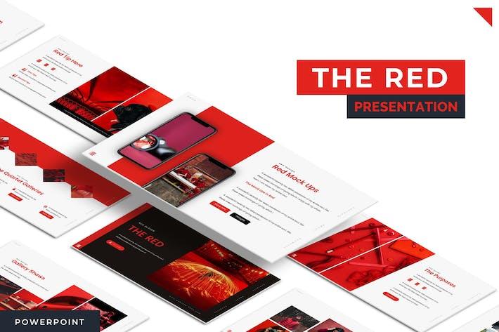 Наш красный - Powerpoint Шаблон