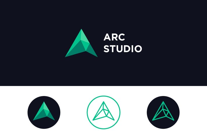 Thumbnail for Arc Studio - Letter A Logo