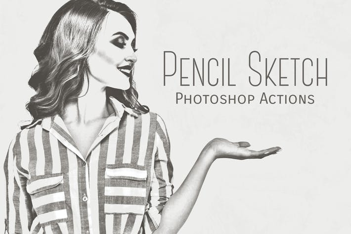 Thumbnail for Pencil Sketch Photoshop Actions