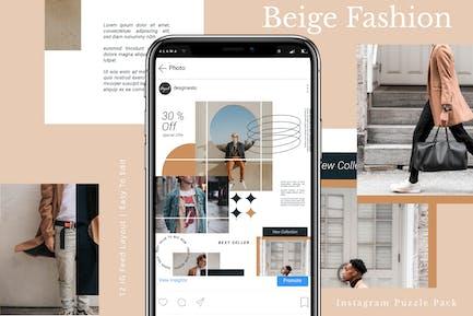 Beige - Instagram Puzzle Pack