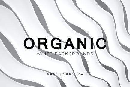 Weiße organische Hintergründe