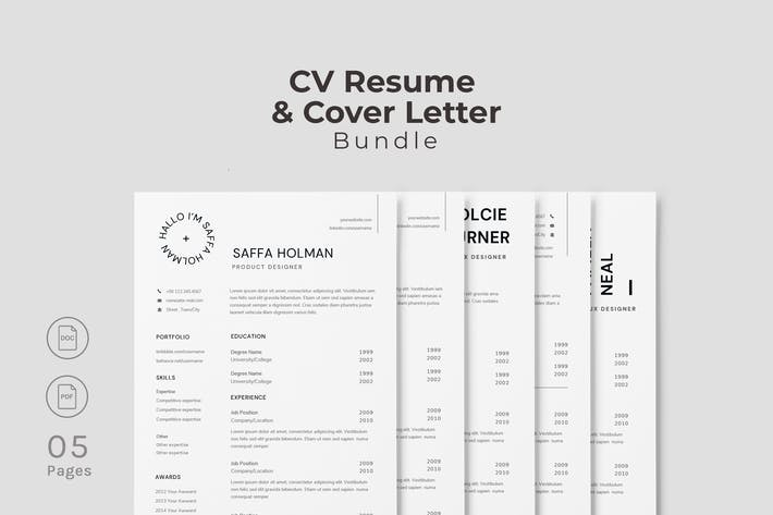 Thumbnail for Minimalism CV Resume Template