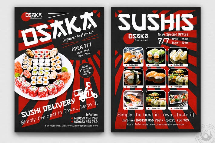 Thumbnail for Sushi Delivery Flyer Template
