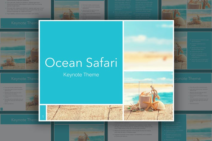 Thumbnail for Ocean Safari Keynote Template