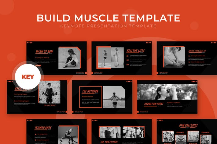 Thumbnail for Build Muscle - Keynote Template