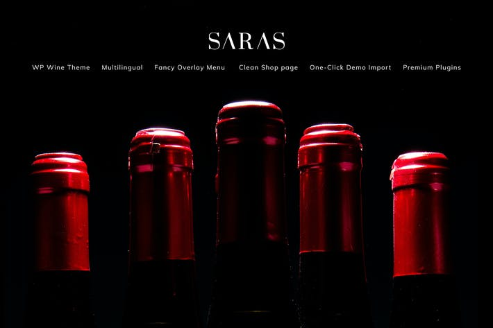 Thumbnail for Saras - Wine WordPress Theme