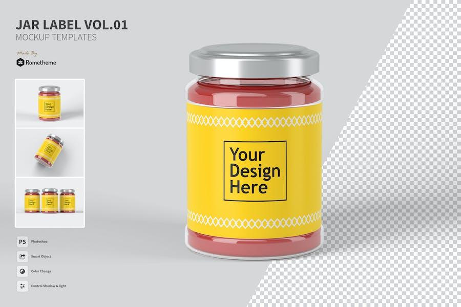 Jar Label vol.01 - Mockup FH