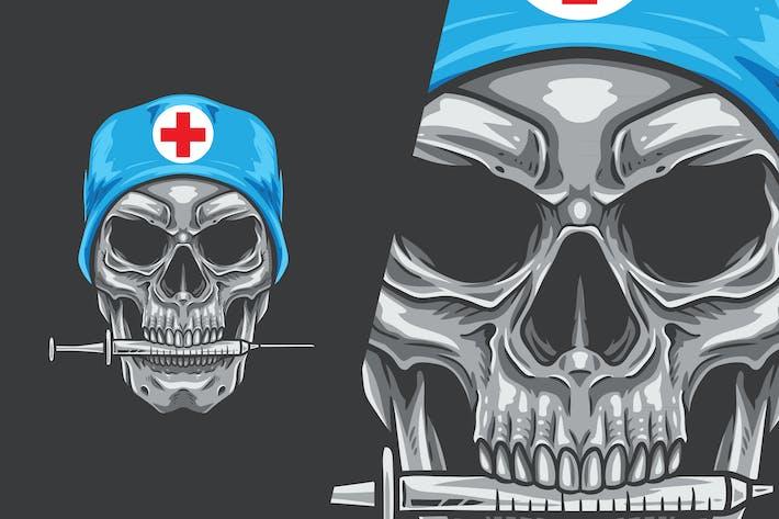 Medical Surgery Skull Vector Illustration
