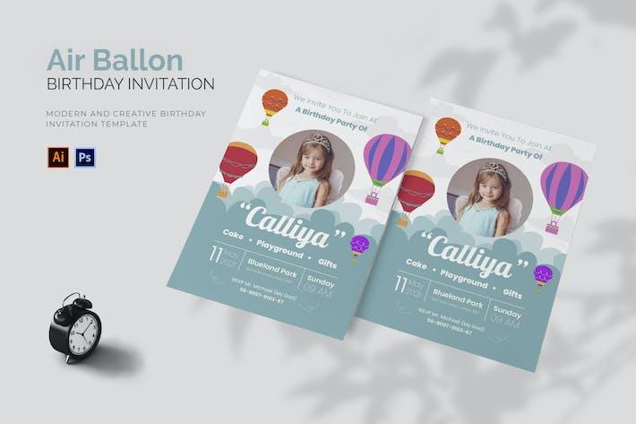 Thumbnail for Air Ballon - Birthday Invitation