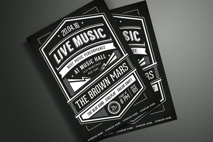 Thumbnail for Music Typography Poster / Flyer