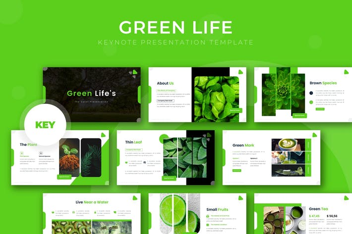 Thumbnail for Green Life - Keynote Template