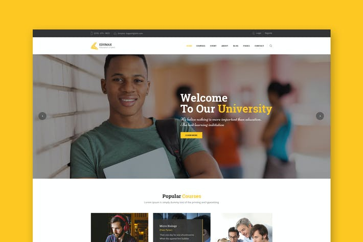 Cover Image For EduMax : Education & Courses PSD Template