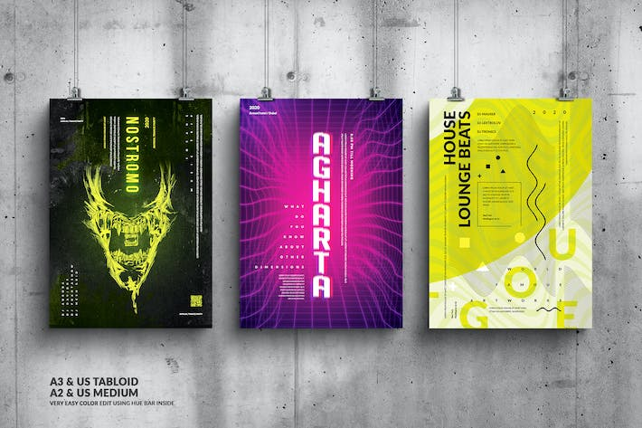 Thumbnail for Party Music Events Big Posters Design Bundle