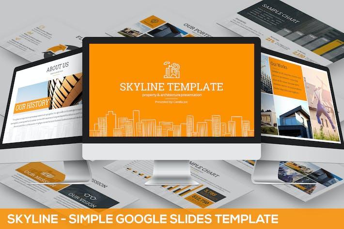 Thumbnail for Skyline Google Slides Template