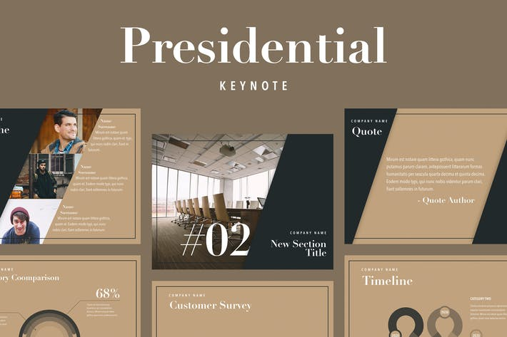 Cover Image For Presidential Keynote Template