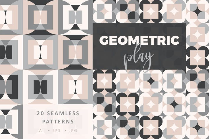 Thumbnail for Geometric Play Patterns + Tiles