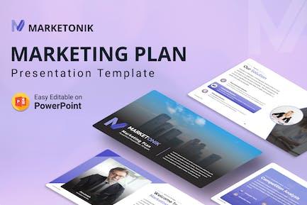 Marketonik – Marketing Plan PPT presentation