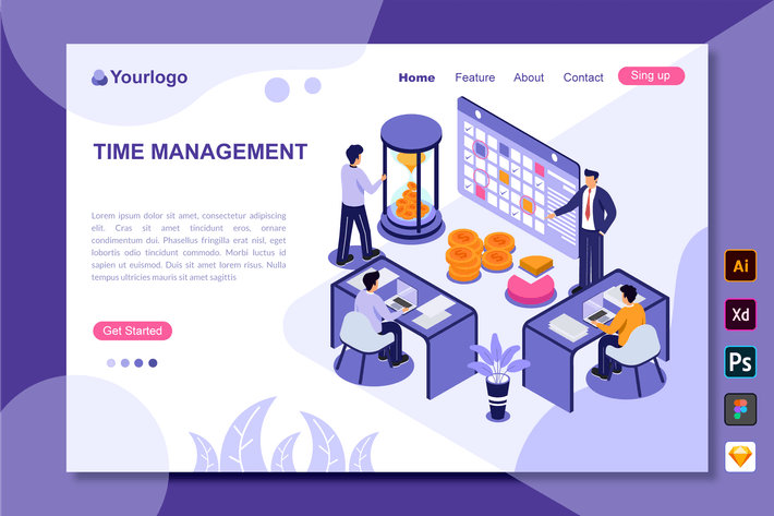 Thumbnail for Time Management - Landing Page