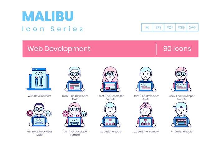 90 Web Development Icons - Malibu Series