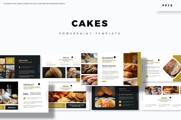 Thumbnail for Cakes - Powerpoint Template