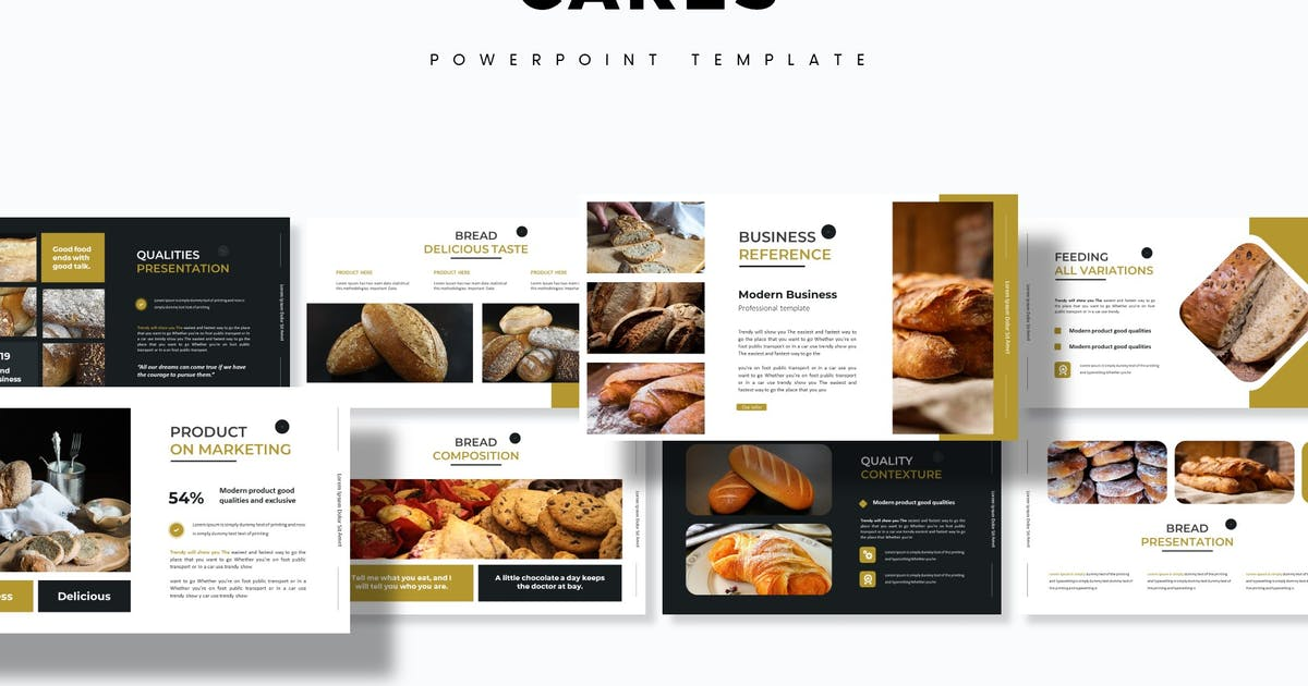 Download Cakes - Powerpoint Template by aqrstudio