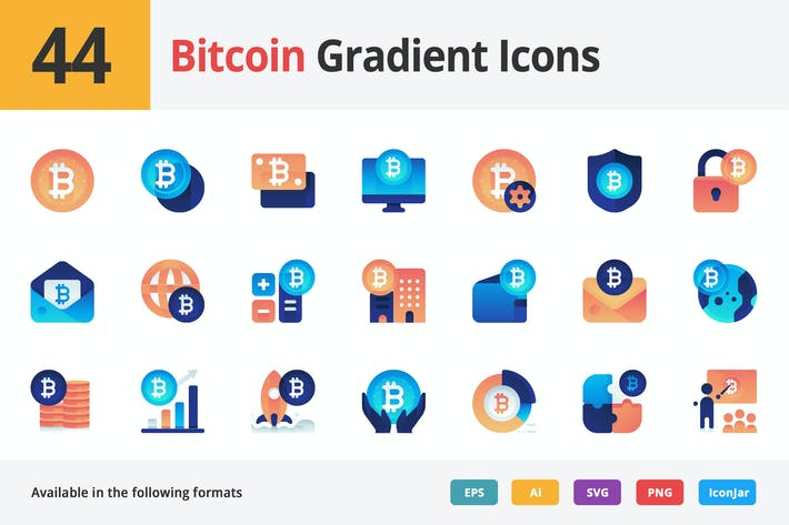 Thumbnail for Bitcoin Gradient Vector Icons