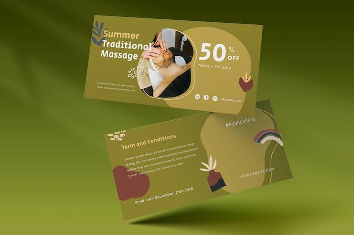 Voucher Template Vol.04 Traditional Spa & Massage