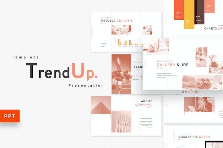 Thumbnail for TrendUp — бизнес-Шаблон Powerpoint