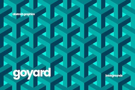 Goyard Geometrische Struktur Hintergrund