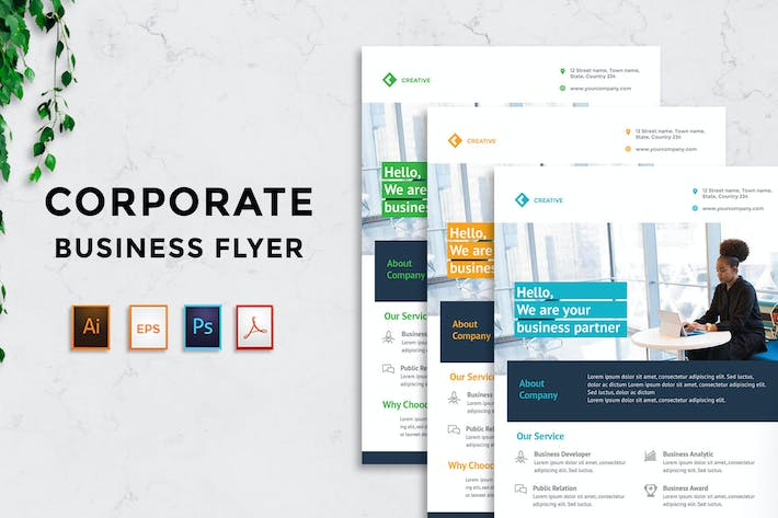 Thumbnail for Corporate Business Flyer v7 - [code YP]