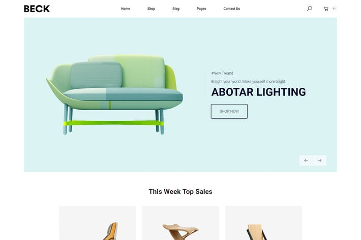 Thumbnail for Beck – Furniture eCommerce Bootstrap 4 Template
