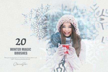 20 Winter Magic Photoshop Brushes