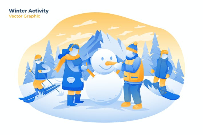 Thumbnail for Winter Activity - Vector Illustration