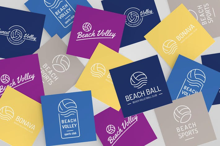 Thumbnail for Volleyball Logo Set