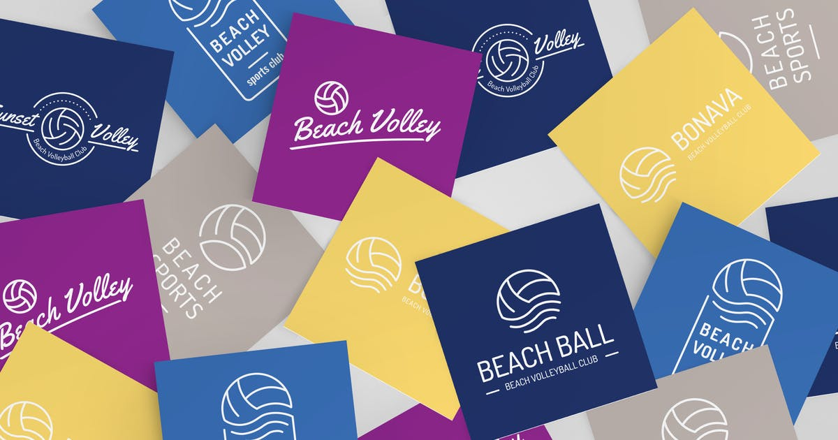 Download Volleyball Logo Set by WildOnes
