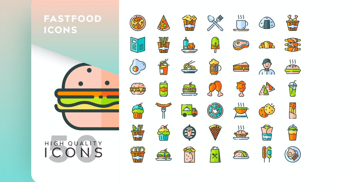 Download FASTFOOD FILLED COLOR by subqistd