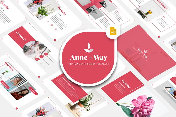 Thumbnail for Anne Way - Minimalist Google Slides Template