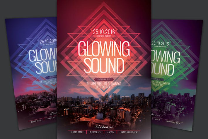 Thumbnail for Glowing Sound Flyer