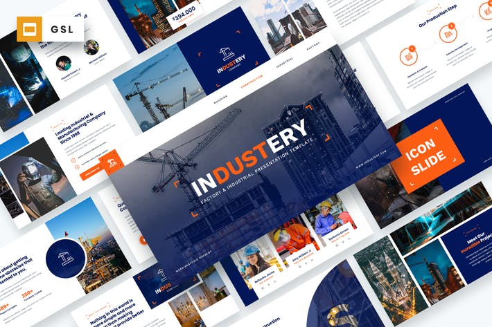 Thumbnail for Industery - Factory & Industrial Google Slides