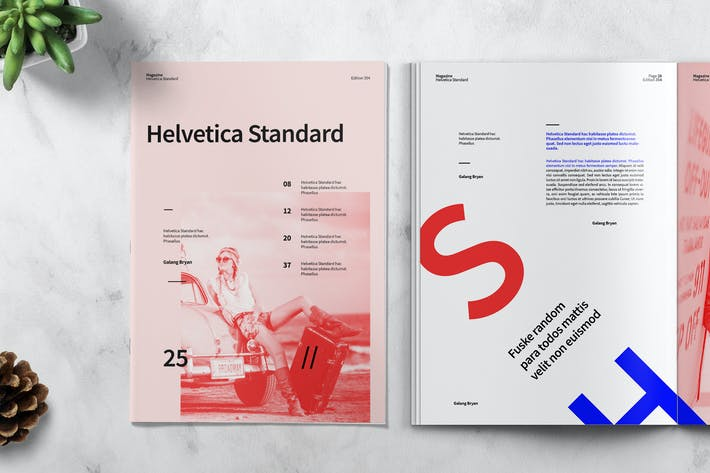 Thumbnail for HELVETICA - Magazine Template