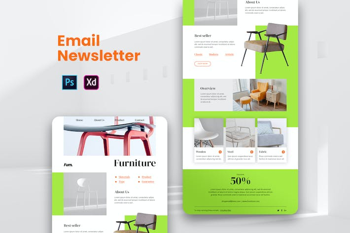 Thumbnail for Furniture Email Newsletter