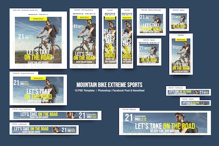 Mountain Bike Extreme Sports Banners Ad