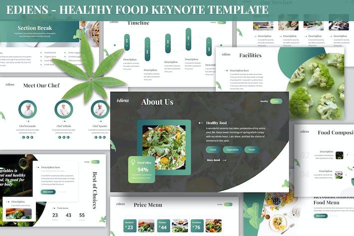 Ediens - Healthy Food Keynote Template