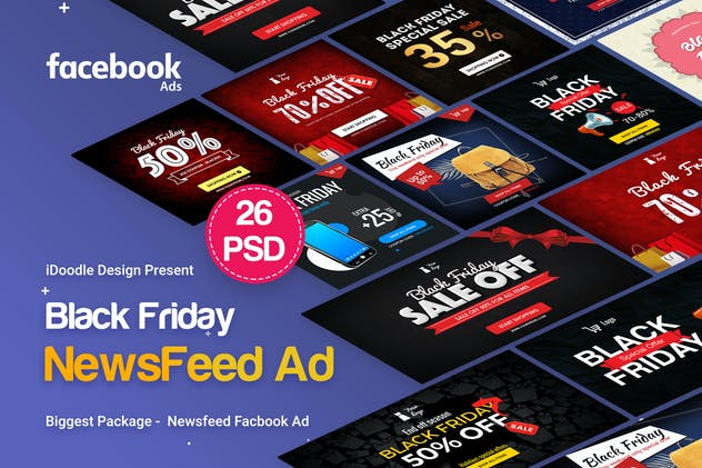 BlackFriday NewsFeed FB Ad - 26 PSD