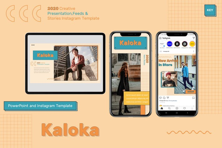 Thumbnail for Kaloka - Keynote & Instagram Шаблон