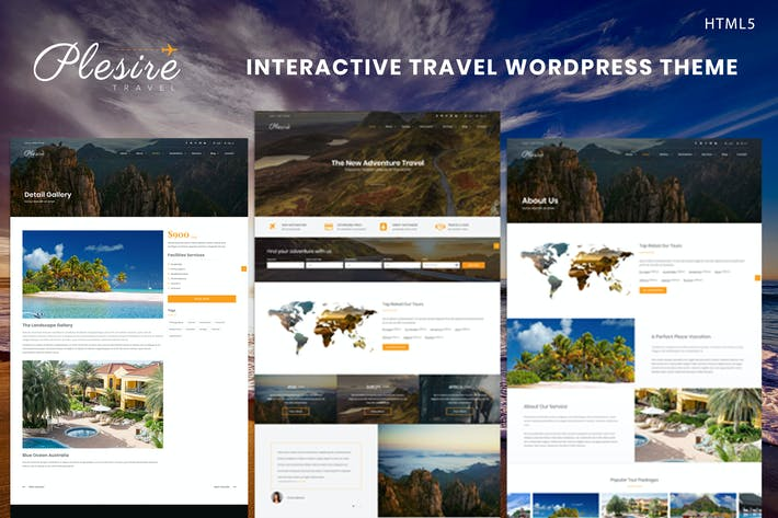 Thumbnail for Plesire - Interactive Travel Template