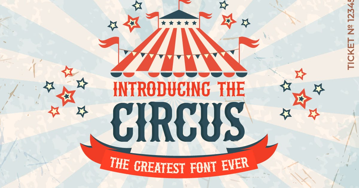 Download The Circus Font by maroonbaboon